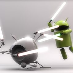 Jedi Android destroys the Sith Apple.
