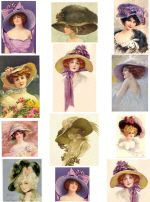 Decoupage Paper and Collage Sheets, Original Tissue, Vintage Women