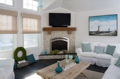 coastal family rooms on pinterest yellow family rooms