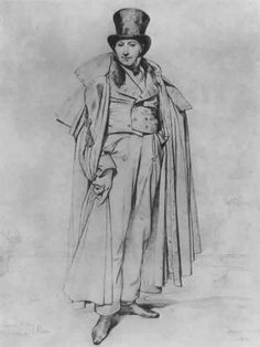 ingres drawing, Leblanc Portrait, 1823,
