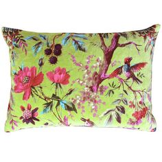 Trippy Granny Cushion - Multicoloured Velvet French Bedroom Cushion