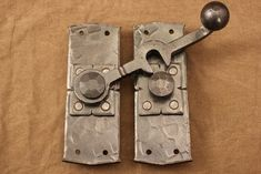 With a style reminiscent of the old west, our traditional barn door latch will add a finishing touch to any door set, crafted by the blacksmiths at Ponderosa Forge