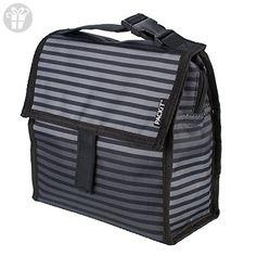 PackIt Freezable Mini Lunch Bag, Gray Stripe (*Amazon Partner-Link)