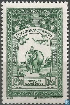 1954 Cambodia - Transport Of Mail