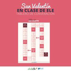Tablero para practicar la destreza oral con motivo de San Valentín ❤️️    Entra aquí para  http://www.eleinternacional.com/tablero-san-valentin/