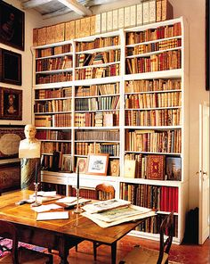 A study/library that looks rich in history and artefacts.