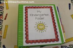 My Kindergarten Folder: A Great Organizing Tool!