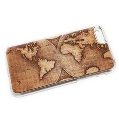 Чехол для iPhone 6 из дерева кусия, ручная работа, земной шар