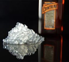 """Cointreau """"caviar"""" is made using a Molecular Gastronomy technique. Add these little pearls to your champagne, sodas or even...Ahem...smoothies ;)"""