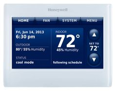 7-Day Programmable Thermostat | Honeywell Prestige 2.0 Comfort System