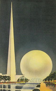 World's Fair postcard, New York, 1939 [Art Deco (/ˌɑrt ˈdɛkoʊ/), or Deco, is an influential visual arts design style that first appeared in France after World War I and began flourishing internationally in the 1920s, 1930s and 1940s before its popularity waned after World War II.]