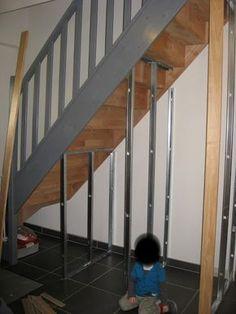 Upstairs hallway storage ideas under stairs ideas Staircase Storage, Stair Storage, Diy Storage, Storage Ideas, Hallway Storage, Basement Stairs, House Stairs, Basement Plans, Basement Ideas