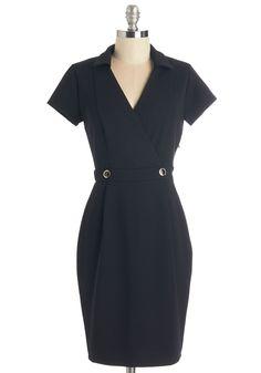 Sophisticated Situation Dress in Black | Mod Retro Vintage Dresses | ModCloth.com