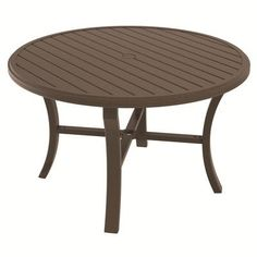 """Tropitone Banchetto Dining Table Finish: Parchment, Table Size: 54"""""""