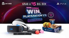 Eat Tacos, Maybe Win PlayStation VR Bundle  Sony has again teamed up with junk food giant Taco Bell for a play station marketing. Now, both firms are operating together for a play station VR give away.    Beginning today, some $ 5 Taco Bell Large Cartons, September 15 will have a code on them. After that you can enter that code at  this web site  for the opportunity to win a play station VR launching package.         The apparatus  goes for sale on Oct 1 3 , but Sony  mentioned in a ..