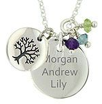 Sterling Silver Little Darlings Tree Necklace