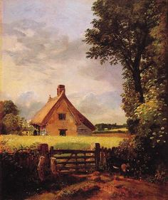 A Cottage in a Cornfield - John Constable