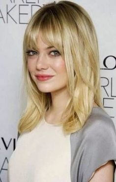 Medium Haircut With Bangs For Round Face
