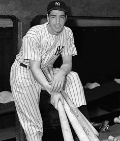 "New York Yankees Joe Dimaggio--November 1914 – March born Giuseppe Paolo DiMaggio, nicknamed ""Joltin' Joe"" and ""The Yankee Clipper"", was an Italian- American Major League Baseball center fielder who played his entire career for the New York Yankees. Baseball Park, New York Yankees Baseball, Ny Yankees, Sports Baseball, Baseball Players, Yankees Baby, Damn Yankees, Cardinals Baseball, Joe Dimaggio"