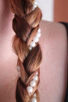 Hair Style, Pearl Braid, DIY Hair Braid