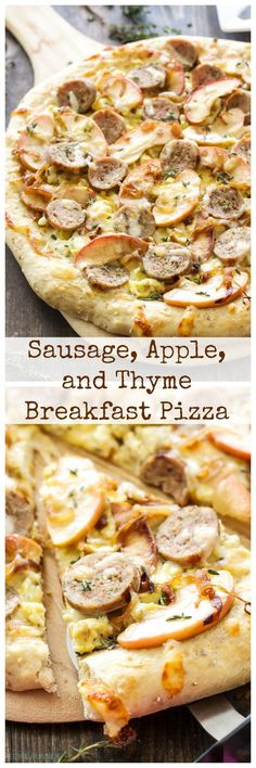 Sausage, Apple, and Thyme Breakfast Pizza - Recipe Runner - Sausage, Apple, and Thyme Breakfast Pizza Breakfast Pizza, Breakfast Items, Best Breakfast, Figs Breakfast, Apple Breakfast, Breakfast Sandwiches, Breakfast Bowls, Pizza Recipes, Brunch Recipes