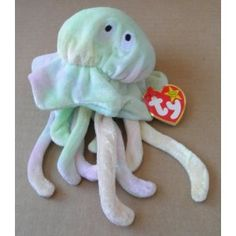 88d35dec421 TY Beanie Babies Goochy the Jellyfish Stuffed Animal Plush Toy - 8 inches  tall - Multi-color