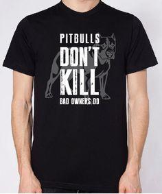 Righteous Hound - Pitbulls Don't Kill Unisex T-Shirt