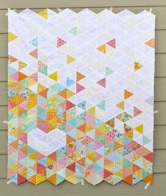 Heart Quilt - 1000 Pyramid style quilt with some fiddly arranging to create heart shape...