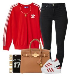 """Red Adidas."" by livelifefreelyy ❤ liked on Polyvore featuring adidas, Acne Studios, Givenchy, adidas Originals and ASOS"