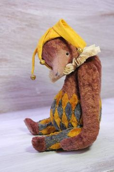 """ooak teddy bear  """"Kapason"""" By Olesya Morozova - I want to introduce you to my new collection bears """"Harlequin's"""" .This is a very interesting job in the first place for me. Harlequin seem to me cheerful and always with long noses. Perhaps their long nose, an image from my childhood, from fairy tales. Bears are sewn on a ne..."""