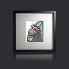 Medieval Devil with the mask Original by ArtistWatercolor on Etsy, $80.00