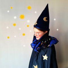 Kostüme für Kinder - Zauberer klein 2-5 Jahre, Magier, Zaubererkostüm - ein Designerstück von maii-berlin bei DaWanda