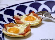 Las recetas de Masero.: Tartaletas de pan de molde con beicon y huevo.
