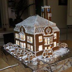 Joululahja toimistolle Gingerbread Houses, Inspiration Boards, Brown, Christmas, Egg, Yule, Navidad, Xmas, Christmas Music