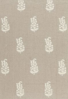 Charleroi Paisley Embroidery in Linen,   65220. http://www.fschumacher.com/search/ProductDetail.aspx?sku=65220 #Schumacher
