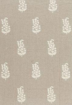 Charleroi Paisley Embroidery in Linen,   65220. http://www.fschumacher.com/search/ProductDetail.aspx?sku=65220 #Schumacher