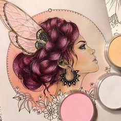 Fairy lady #art #coloring #coloringbook #prismacolor #coloredpencils #panpastel #dagdrömmar #hannakarlzon @EMMIJULIN