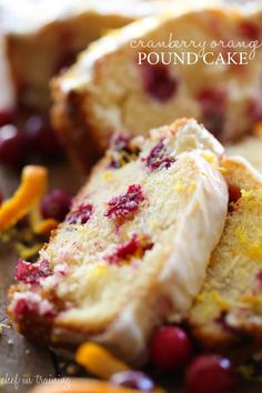 Cranberry Orange Pound Cake - This Pound Cake is so moist and is perfect for the winter and holiday season!