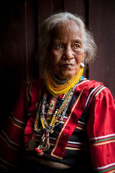 Philippines | Portrait of a Manobo women from the Bukidnon plateau.  Mindanao  | © Jacob Maentz