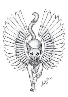egyptian cat tattoo - Cerca con Google