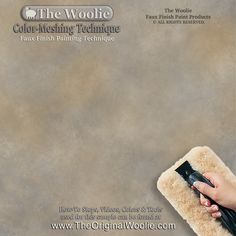 PAINT A WALL USING A WOOLIE How to Faux Finish Color Meshing