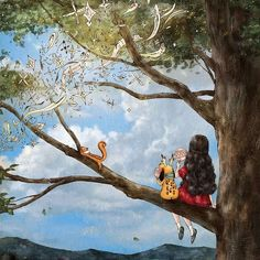 Happiness In Living Alone Revealed In 65 Illustrations By Korean Artist Cartoon Kunst, Cartoon Art, Art And Illustration, Fantasy Kunst, Fantasy Art, Forest Girl, Korean Artist, Alone, Anime Art Girl
