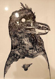 katsuya terada illustration for Terra's Black Marker at the Compound Gallery in Portland Oregon: