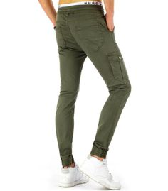 Pánske olivové jogger nohavice