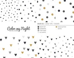Digital Paper Neutral 'Pack02' Gold Glitter & Gray by ColorMyNight