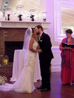 """{   WONDERFUL WEDDING FOR DAYNA AND NICK AT HIGHGROVE DESPITE THE RAIN!   }  """"Dayna and Nick began planning for their wedding on September 25, 2015  before they even moved to North Carolina! They had met and were living in New York but their careers in retail management were bringing them South and they fell in love with Highgrove Estate in Fuquay-Varina and then contacted me. We skyped in October of 2014 and started working on the ceremony. I did not meet them in person until their…"""