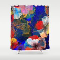 Flower carpet(54). Shower Curtain by Mary Berg. Worldwide shipping available at Society6.com. Just one of millions of high quality products available. #showercurtain #society6 #flowers #purple #maryberg #purple #textile #homedesign #colorful #purple #red #contemporary