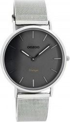 Oozoo Vintage Silver - Grey - Titanium C7729 Vintage Silver, Mesh, Watches, Clocks, Steel, Jewerly, Clock, Fishnet, Tulle