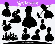 Sofia the First Instant Download silhouette by pinkykatieclipart