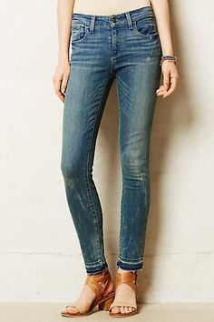 Pilcro Stet Ankle Fray Jeans - anthropologie.com
